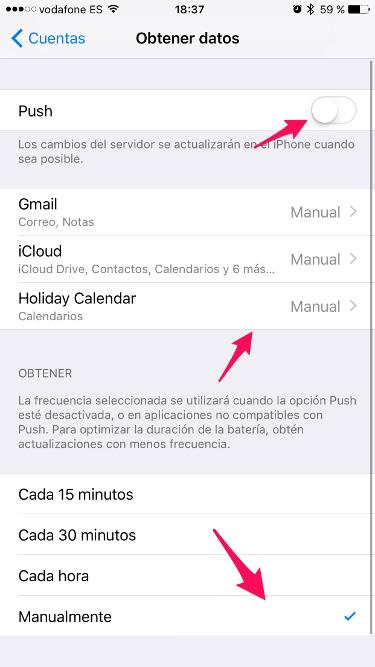 batería en iOS 10 3