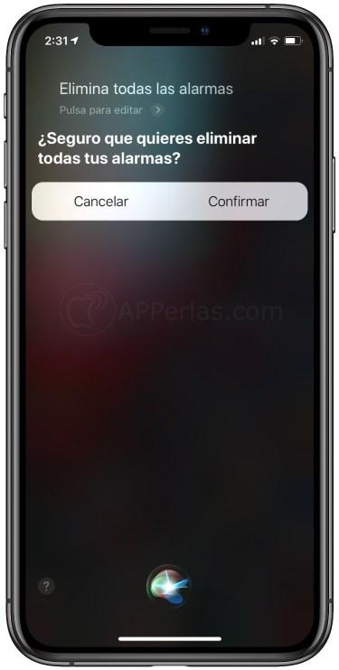 Borrar las alarmas del iPhone