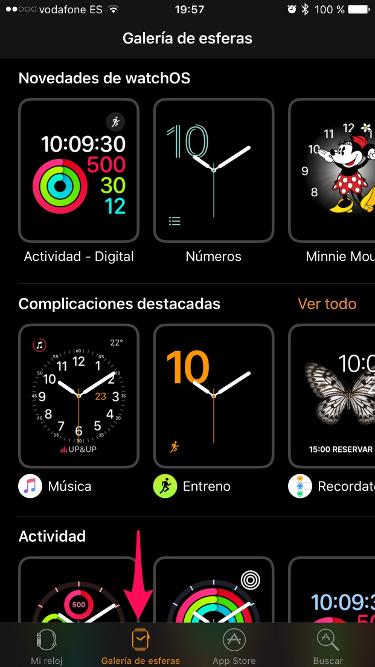 esferas para el Apple Watch 1