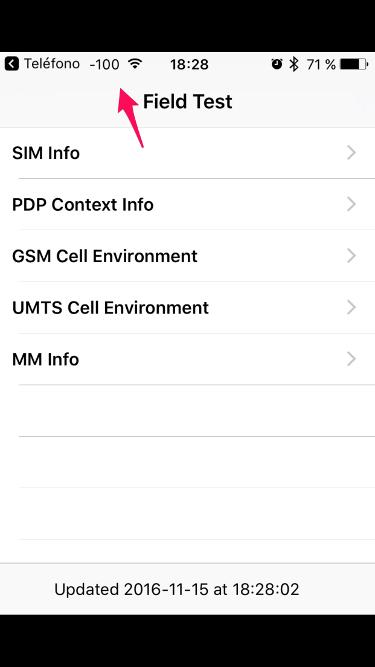 cobertura en el iPhone 1