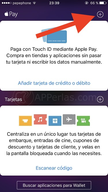 Wallet para vincular tarjeta a Apple PAY