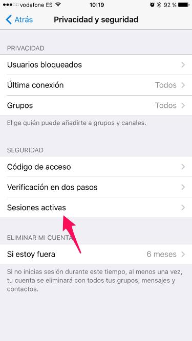 sesiones de Telegram 1