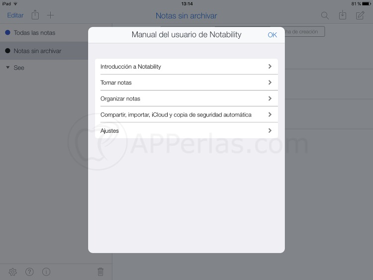 App de notas Notability tutorial