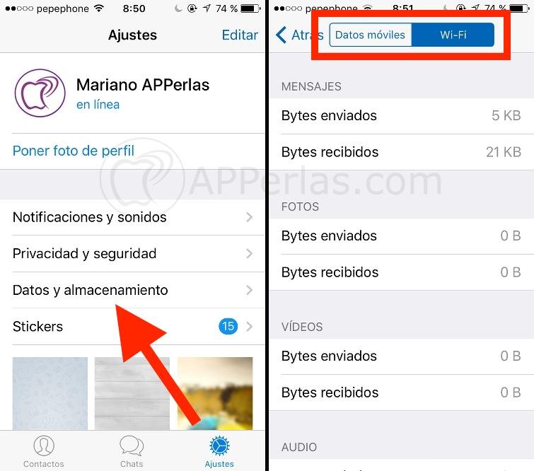 Gestión de datos y almacenamiento de Telegram