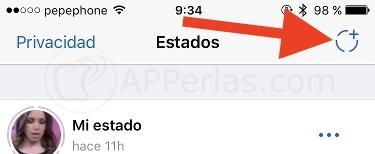 Crea estados de Whatsapp