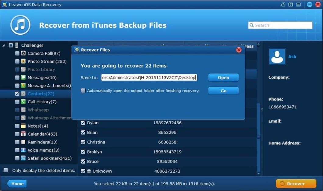 Leawo iOS Data Recovery MAC / WINDOWS