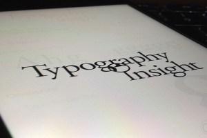 Typography Insight 1