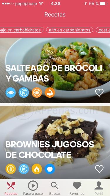 Runtasy app de recetas fáciles