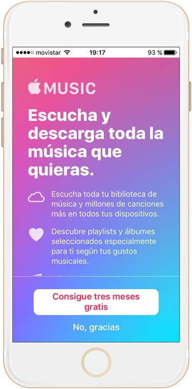 Apple music gratis 3 meses