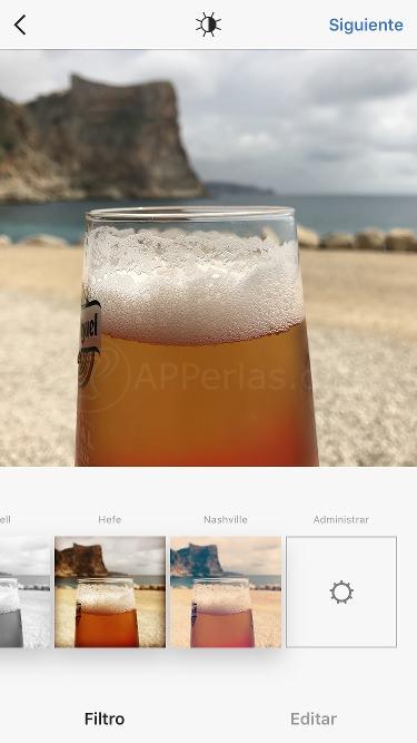 Filtros en l mejor editor de fotos para Instagram