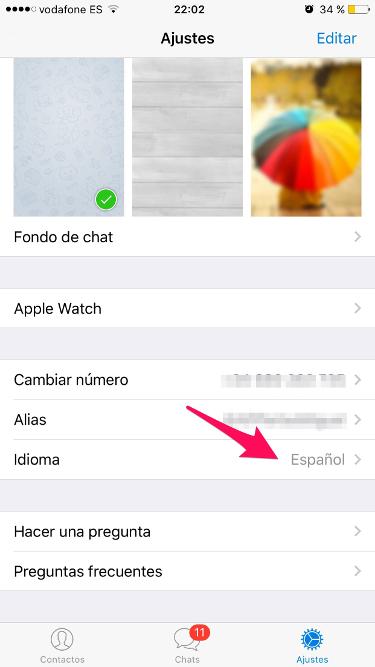 idioma de Telegram 1