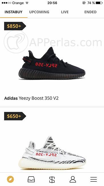 compra zapatillas desde iPhone 2