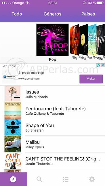 música gratis para iPhone 3