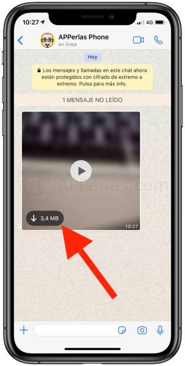 Información de vídeo no descargado