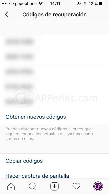Códigos para evitar hackeo cuenta instagram
