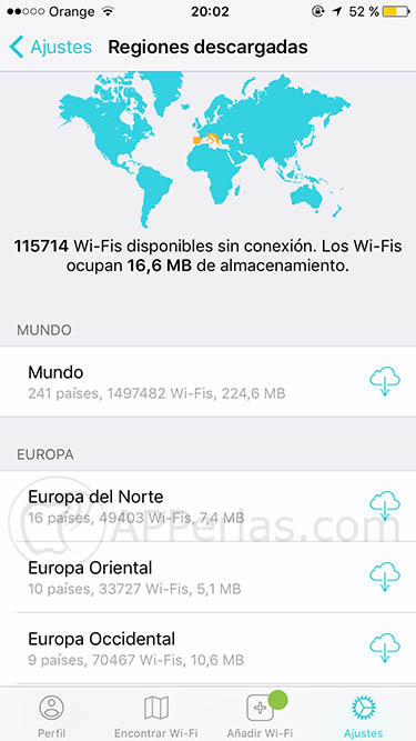 Instabridge encontrar wifi gratis 3