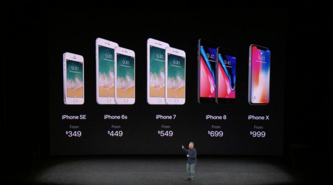 Precio del iPhone 8, X, 7, 6S y SE