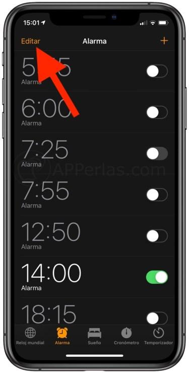 Horas de alarma