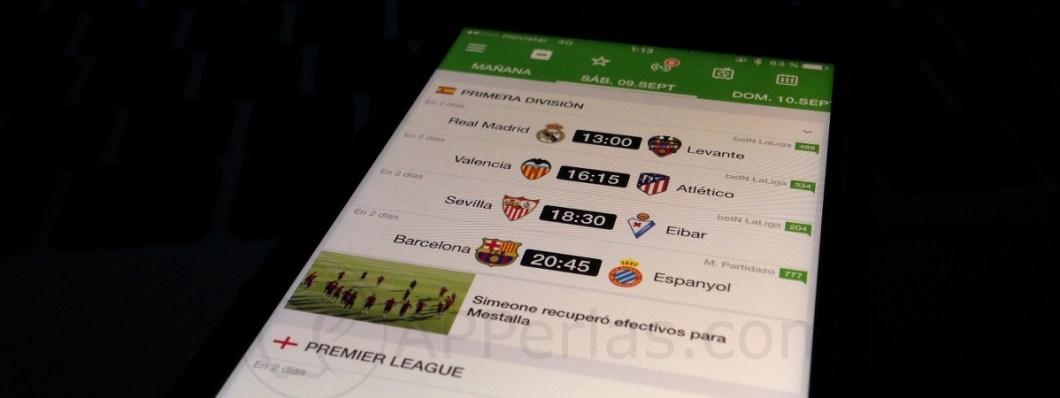 Aplicaciones recomendadas Resultados de fútbol