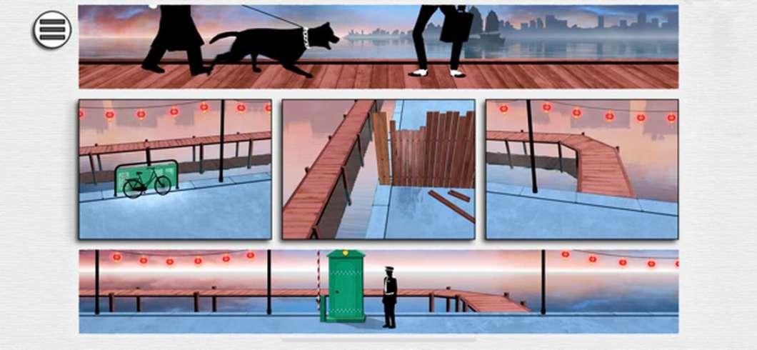 Juego con interfaz de viñetas de cómic