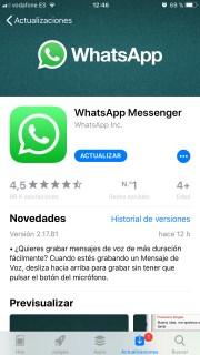 Llega la nueva actualización de WhatsApp y es muy importante