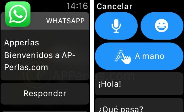 Escribir Whatsapp desde Apple Watch