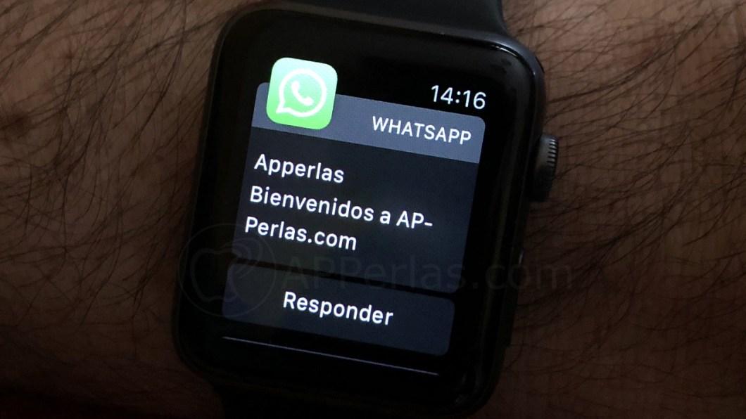 Cómo escribir Whatsapp desde Apple Watch