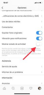Desactiva la última conexión en Instagram para iPhone