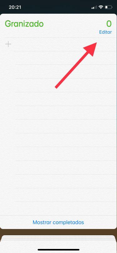 lista de recordatorios 1