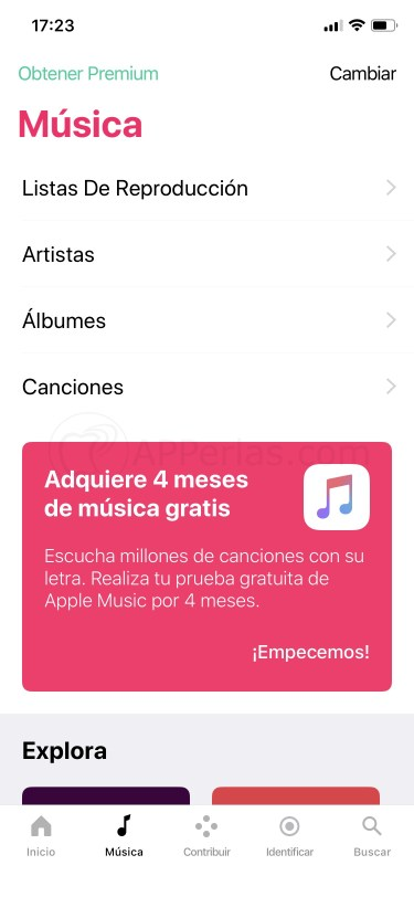 Apple music gratis 4 meses