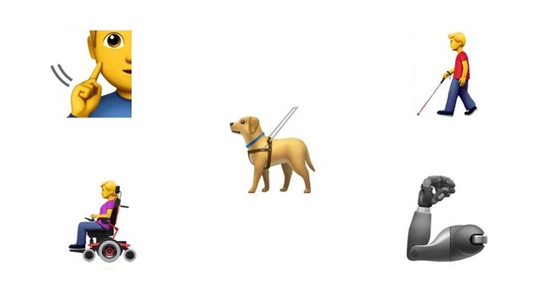 Emojis que representan personas con discapacidad
