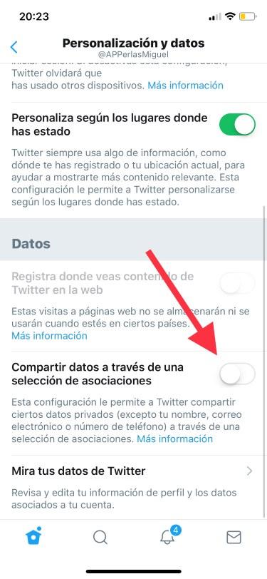 privacidad de Twitter 3