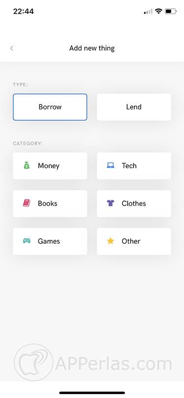 cosas prestadas desde iOS iLend 3