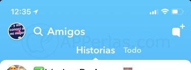 Historias Snapchat