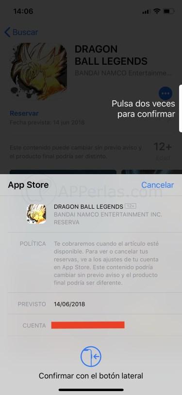 Reservando Dragon Ball Legends