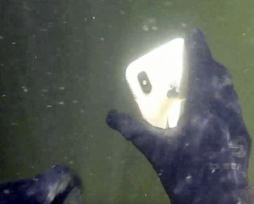 Un iPhone X bajo el agua en un río sobrevive durante 2 semanas