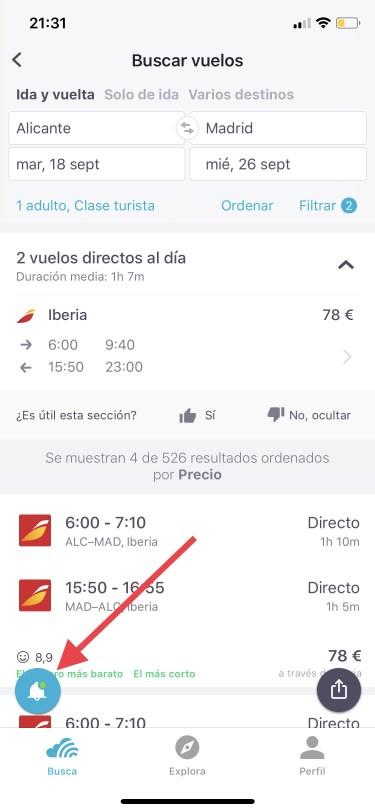 vuelos baratos en el iPhone 1