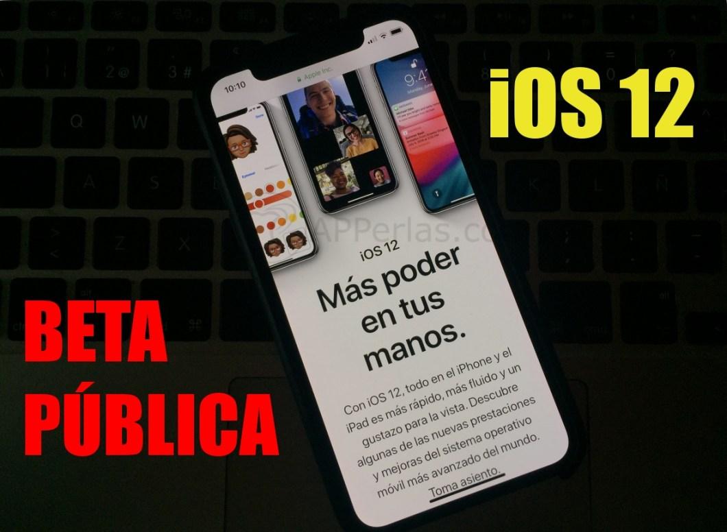 BETA pública de iOS 12