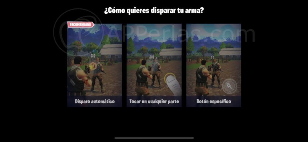 Nuevo modo disparo para Fortnite iOS