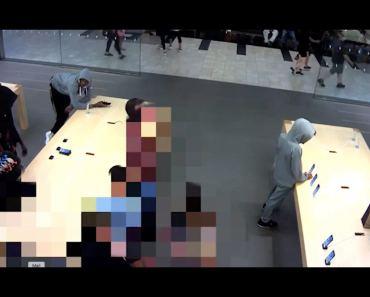 Vídeo del robo de iPhone en Nueva York. Nada menos que 21 en 6 segundos