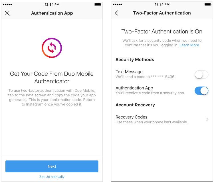 App autentificadora de Instagram