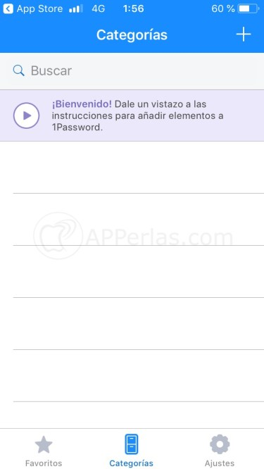 Usando 1Password gratis en iPhone