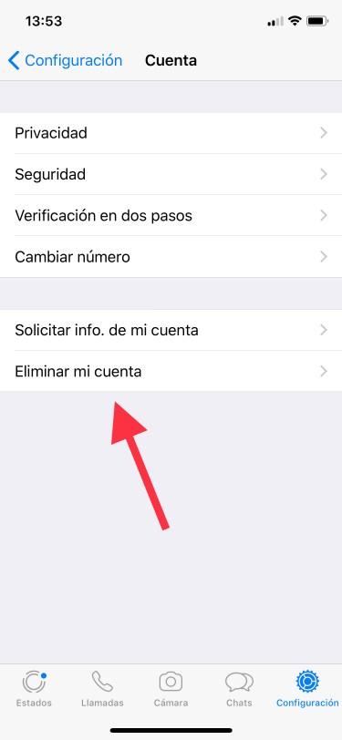 eliminar una cuenta de WhatsApp 1