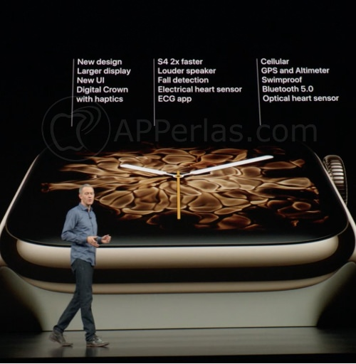Especificaciones técnicas del Apple Watch series 4