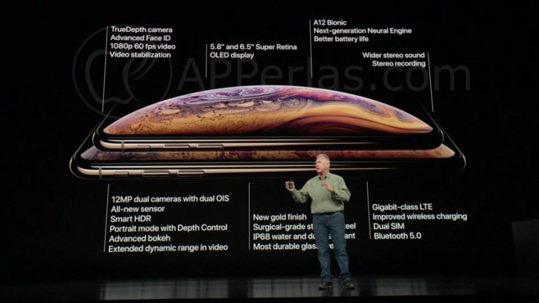 Especificaciones técnicas del iPhone Xs y Xs MAX