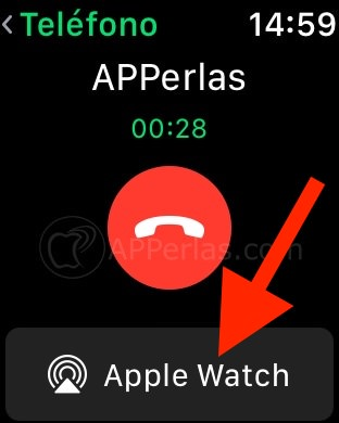 Opción del Apple Watch