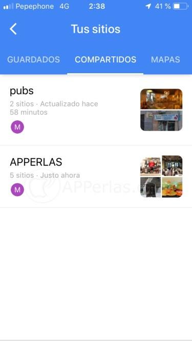 Listas de sitios compartidas