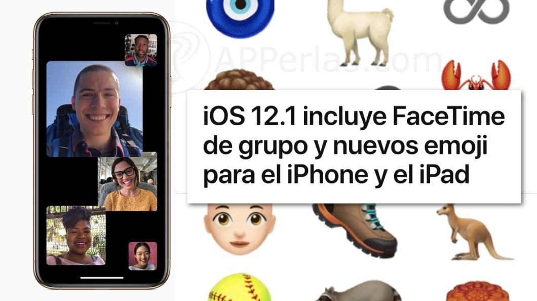 Novedades de iOS 12.1
