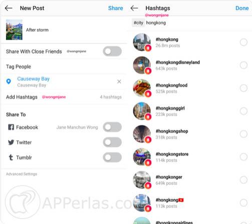 ocultar hashtags en instagram 1