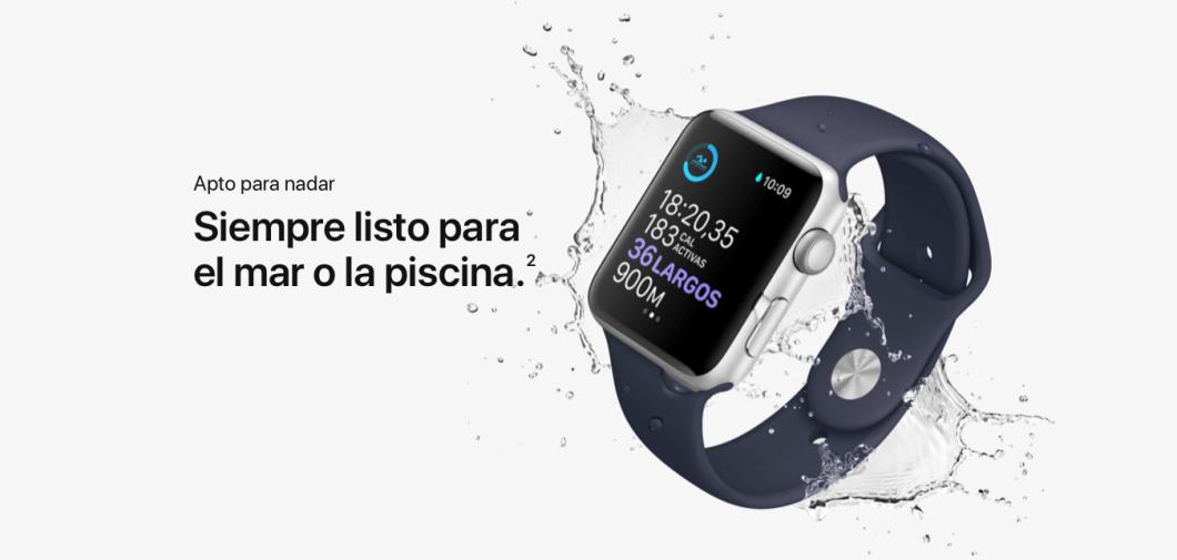 agua del Apple Watch